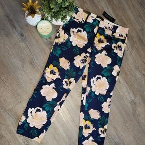 BANANA REPUBLIC | Floral Mid Rise Two Way Stretch